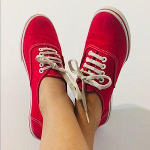 Man/Woman Red Vans